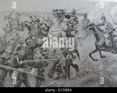 Painting depicting the Hanoverian victory over the Prussians at the Battle of Langensalza. Dated 19th Century - Stock Photo