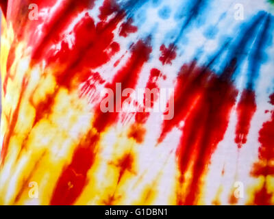 abstract color cloth texture red blue yellow - Stock Photo