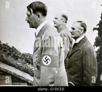 Photographic print of Adolf Hitler (1889-1945) a German politician who was the leader of the Nazi Party, Chancellor - Stock Photo