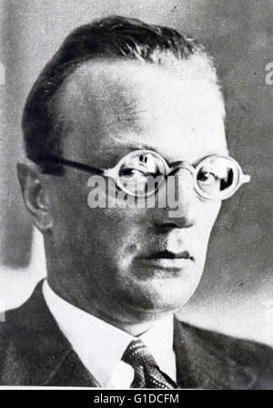 Photographic portrait of Arthur Seyss-Inquart (1892-1946) an Austrian Nazi politician who served as Chancellor of - Stock Photo