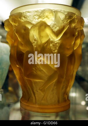 glass vessel designed by Rene Lalique 1910-1920 - Stock Photo