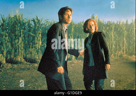 Akte X - Der Film / David Duchovny / Gillian Anderson, - Stock Photo