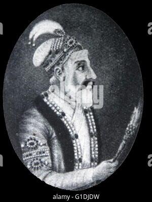 Shah Jahan 1592-1666. Mughal Emperor of India 1628-1658. - Stock Photo
