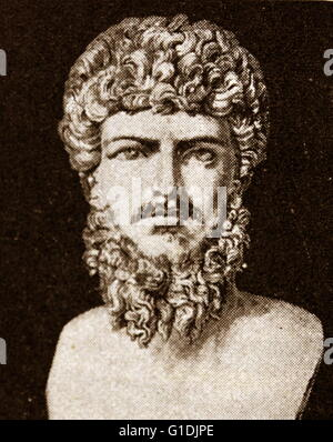 Bust of the Roman Emperor Lucius Verus (130-169). Born Lucius Ceionius Commodus - Stock Photo