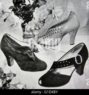 Advert for new elegant shoes by Rayne, a British manufacturer known for high-end and couture shoes. Founded in 1899 - Stock Photo