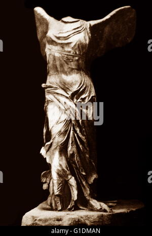 Sculpture of a Winged Victory of Samothrace, a 2nd-century BC marble sculpture of the Greek goddess Nike. Dated - Stock Photo