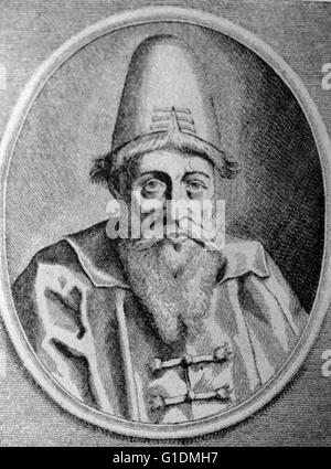 Portrait of Ivan the Terrible (1530-1584) Grand Prince of Moscow and Tsar of All the Russia's'. Dated 16th Century - Stock Photo