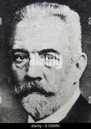 Portrait of Theobald von Bethmann-Hollweg (1856-1921) a German politician and statesman who served as Chancellor - Stock Photo