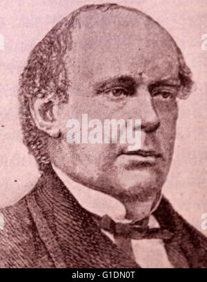 Portrait of Salmon P. Chase (1808-1873) an American politician and Chief Justice of the United States. Dated 19th - Stock Photo