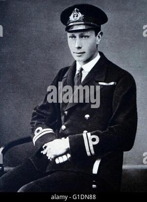 Photograph of Prince Albert Frederick Arthur George (1895-1952). Dated 19th Century - Stock Photo