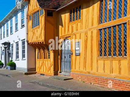 Little Hall, in the village of Lavenham, Suffolk, England UK - Stock Photo