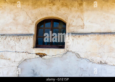 Mission San Miguel de Arcangel in San Miguel California in the Paso Robles wine country - Stock Photo