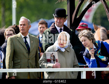 Windsor, UK. 13th May, 2016. HM Queen Elizabeth Members of the English Royal Family attend the Royal Windsor Horse - Stock Photo