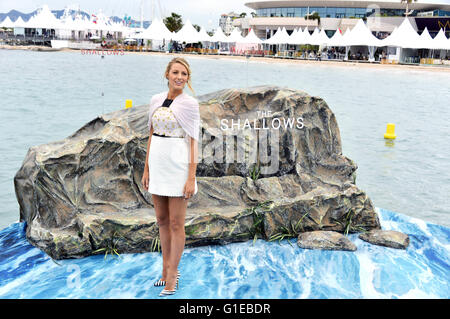 Blake Lively at the 'The Shallows' photocall during the 69th Cannes Film Festival at Majestic Beach Pier on May - Stock Photo