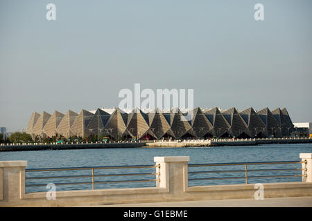 Baku, Azerbaijan. 13th May, 2016. A general view of the Crystal Hall. Baku, is one of the most beautiful cities - Stock Photo
