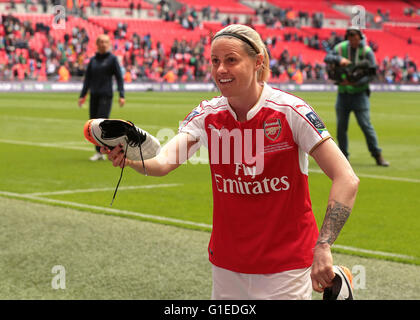 Wembley Stadium, London, UK. 14th May, 2016. SSE Womens FA Cup Final. Arsenal Ladies versus Chelsea Ladies. Kelly - Stock Photo