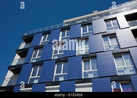Apartment building, modern architecture, modern neighborhood