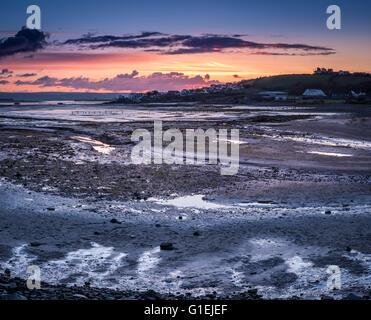Torridge Estuary Sunrise - Stock Photo