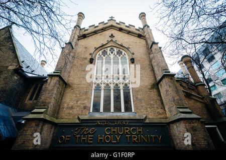 The Church of the Holy Trinity, at Trinity Square, in downtown Toronto, Ontario. - Stock Photo