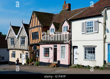 The Crooked House in the village of Lavenham, Suffolk, England UK - Stock Photo