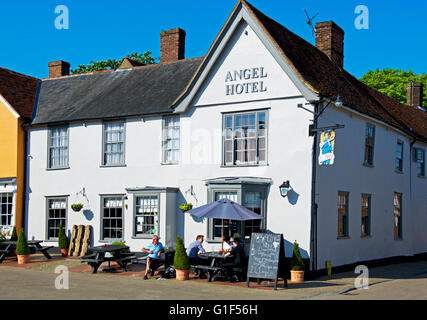 The Angel Hotel in the village of Lavenham, Suffolk, England UK - Stock Photo