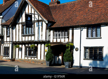 The Swan Hotel and Spa in the village of Lavenham, Suffolk, England UK - Stock Photo