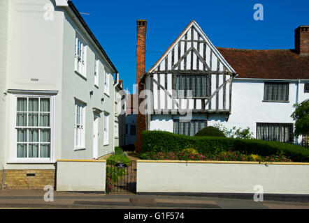 Half-timbered house in the village of Lavenham, Suffolk, England UK - Stock Photo