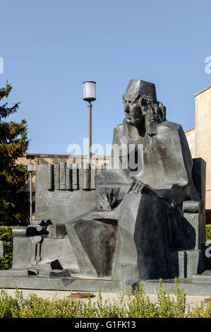 Monument Elio Antonio Nebrija (1441-1522). by the sculptor Pablo Serrano, University of Salamanca, Castile and Leon, - Stock Photo