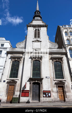 Baroque style St Martin within Ludgate church, London, UK - Stock Photo