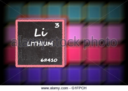 Lithium Li Chemical Element Periodic Table 3d Render Stock Photo