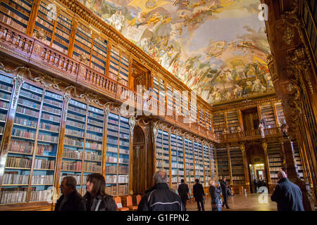 Strahov Monastery Library, Prague, Czech Republic - Stock Photo