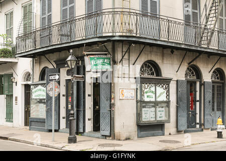 a street corner in the French Quarter, New Orleans - Stock Photo