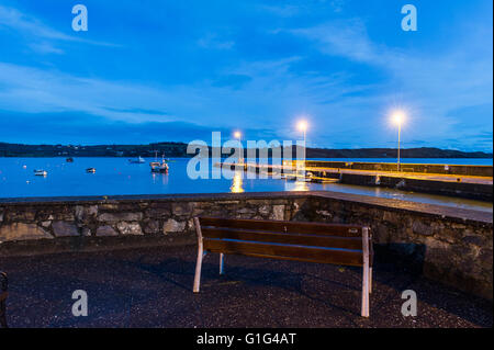 Schull Harbour, West Cork, Ireland at night. - Stock Photo
