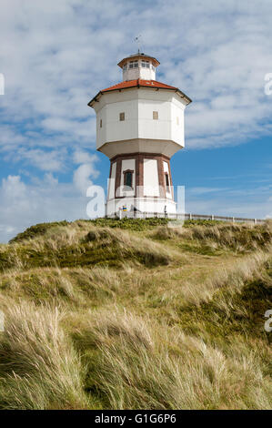 Water tower in the dunes of the East Frisian island Langeoog, Lower Saxony, Germany - Stock Photo
