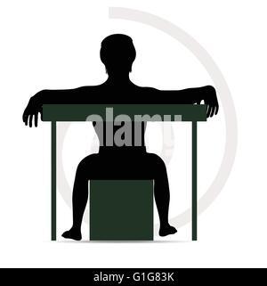 EPS Vector 10 - man silhouette on sofa - Stock Photo