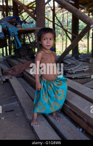 House on stilts in floating village in Tonle Sap. Kampong