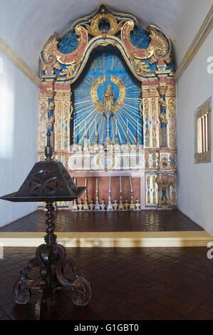 Cathedral Alto da Sé, Altar, Olinda, Pernambuco state, Brazil, UNESCO World Heritage Site - Stock Photo