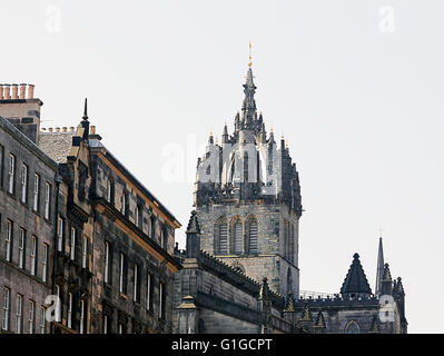 Bell Tower and Crown.St Giles Cathedral.Edinburgh. - Stock Photo