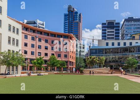 Civic Square, Wellington, New Zealand - Stock Photo