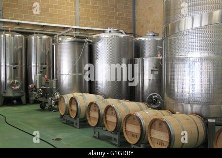 Wine Making Vats, Denbies Wine Estate, Dorking, Surrey Hills, North Downs