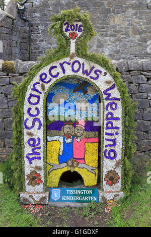 Tissington well dressing, Peak District National Park, Derbyshire, England, UK. - Stock Photo