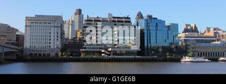 Panoramic view of the City of London and the financial district, UK - Stock Photo