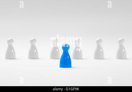 Leadership business concept with pawns. - Stock Photo