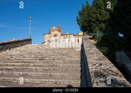 View of the west side  of the small town of Castiglione del lago; Umbria Italy. - Stock Photo