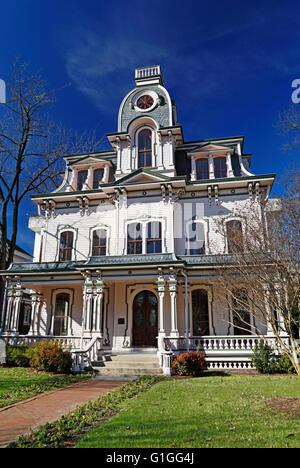 Historic Oakwood, Raleigh, North Carolina. Second Empire architecture. - Stock Photo