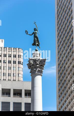 San Francisco,California,USA- June 30, 2015 : The Victory statue in Union Square, San Francisco - Stock Photo