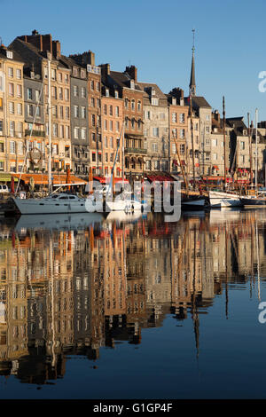 Saint Catherine Quay in the Vieux Bassin, Honfleur, Normandy, France, Europe - Stock Photo