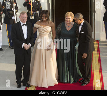 Washington, District of Columbia, USA. 13th May, 2016. US President Barack Obama and First Lady Michelle Obama welcome - Stock Photo