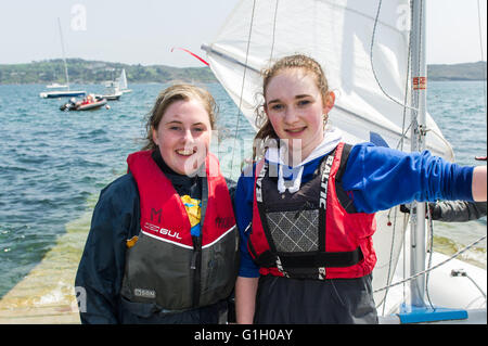Schull, Ireland. 14th May, 2016.  The sailing season is back in full swing in West Cork. Pictured on the slipway - Stock Photo