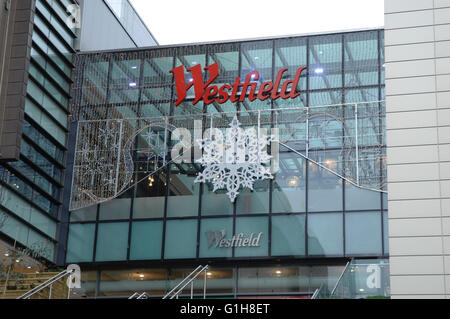 Westfield shopping centre in Stratford - London - Stock Photo